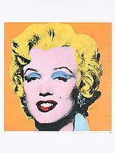 Andy Warhol - Marilyn, Orange Shot on White Background - 1992