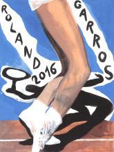 Marc Desgrandchamps - Roland Garros - 2016 - SIGNED