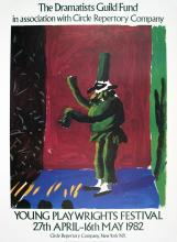 David Hockney - Detail from Pulcinella With Applause - 1982