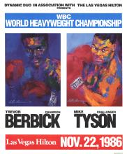 Leroy Neiman - Berbick vs. Tyson - 1986