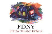 Leroy Neiman - FDNY Strength and Honor - 2001