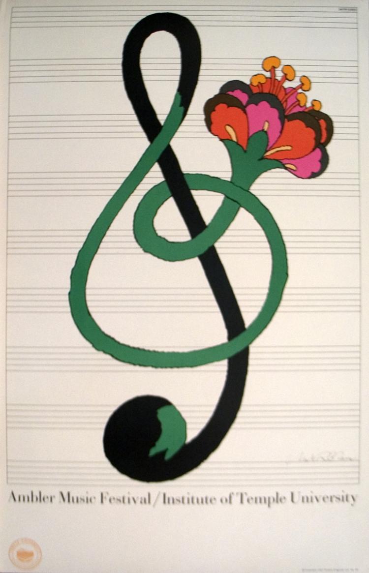 Milton Glaser - Ambler Music Festival - SIGNED