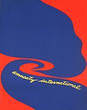 Jack Youngerman - Amnesty International - 1977 - SIGNED