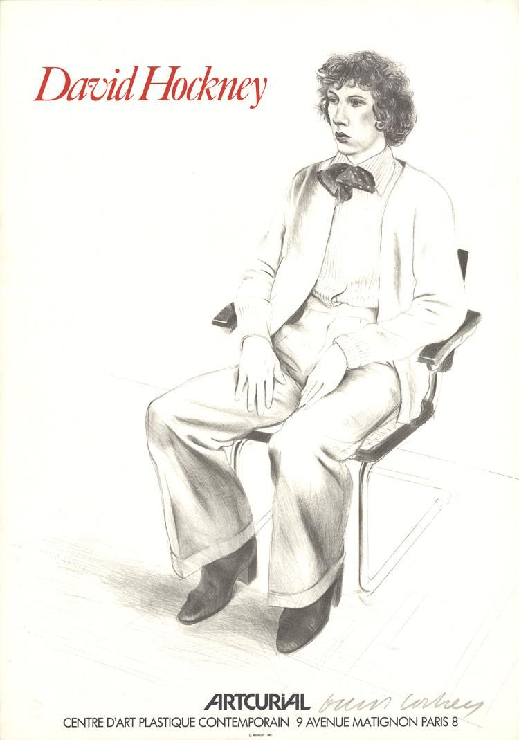 David Hockney - Artcurial, Gregory Evans - 1979 - SIGNED