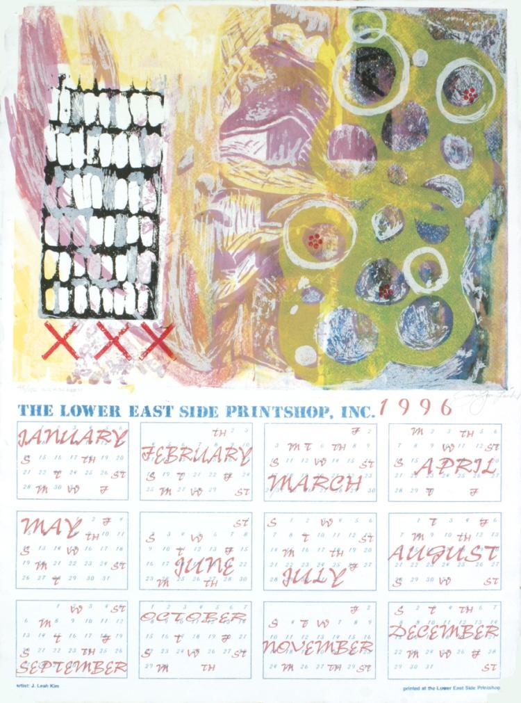 Lea Kim - Calendar - 1996 - SIGNED