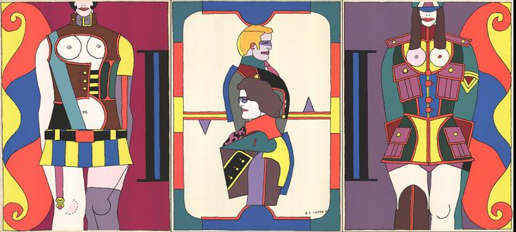 Richard Lindner - Changing Sexuality (Triptych) - 1973 - SIGNED