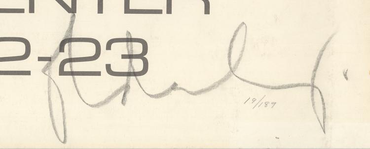 Claes Oldenburg-Lake Union Seattle Festival-1972 Lithograph