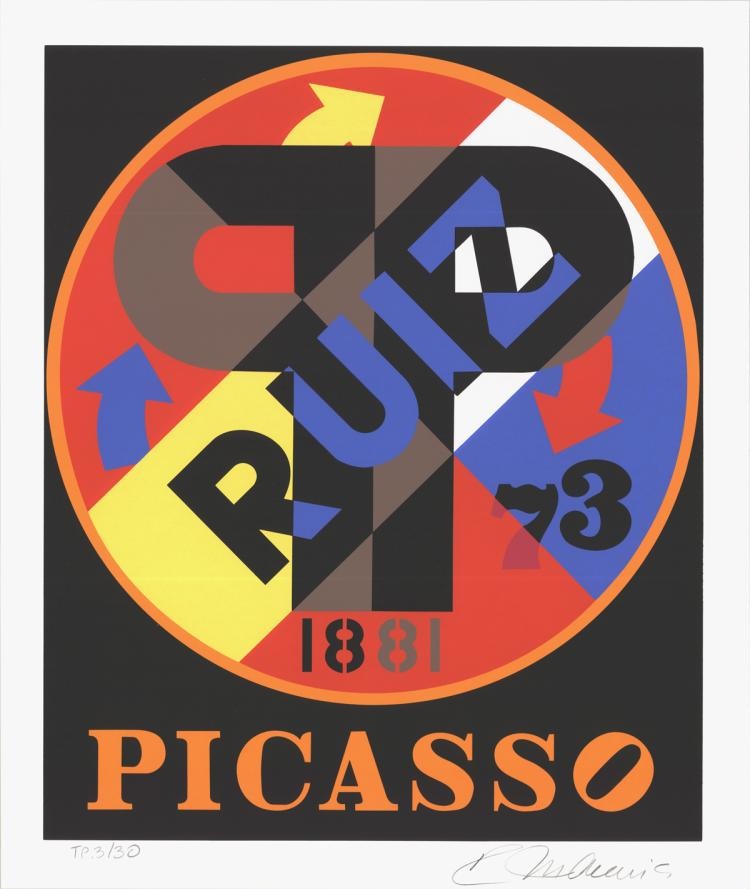 Robert Indiana - Picasso - 1997 - SIGNED