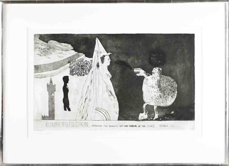 David Hockney - Rumpelstiltskin - 1962 - SIGNED
