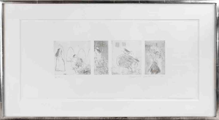 David Hockney - Study for Rumpelstiltskin - 1961 - SIGNED