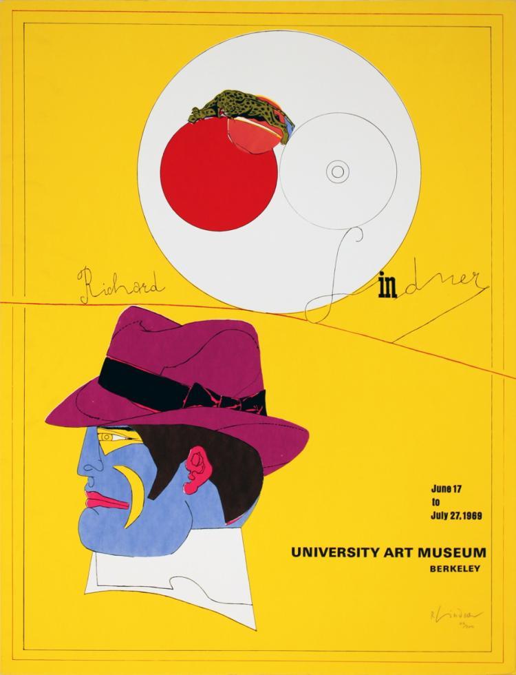 Richard Lindner - University Art Museum - 1969 - SIGNED