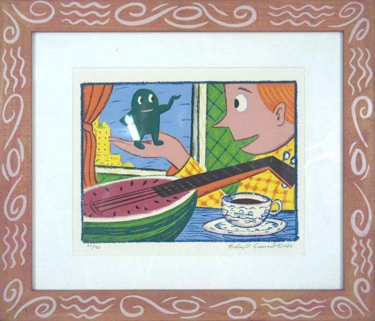 Rodney Greenblat - Watermelon Man - SIGNED