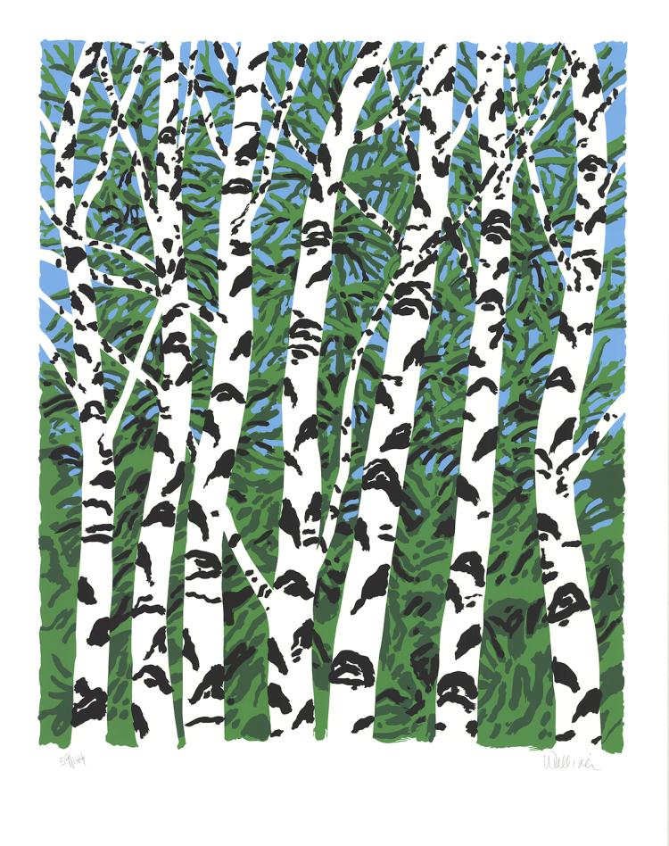 Neil Welliver - Birches - 1984 - SIGNED