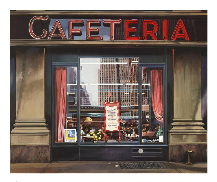 Richard Estes - Cafeteria - 1972 - SIGNED