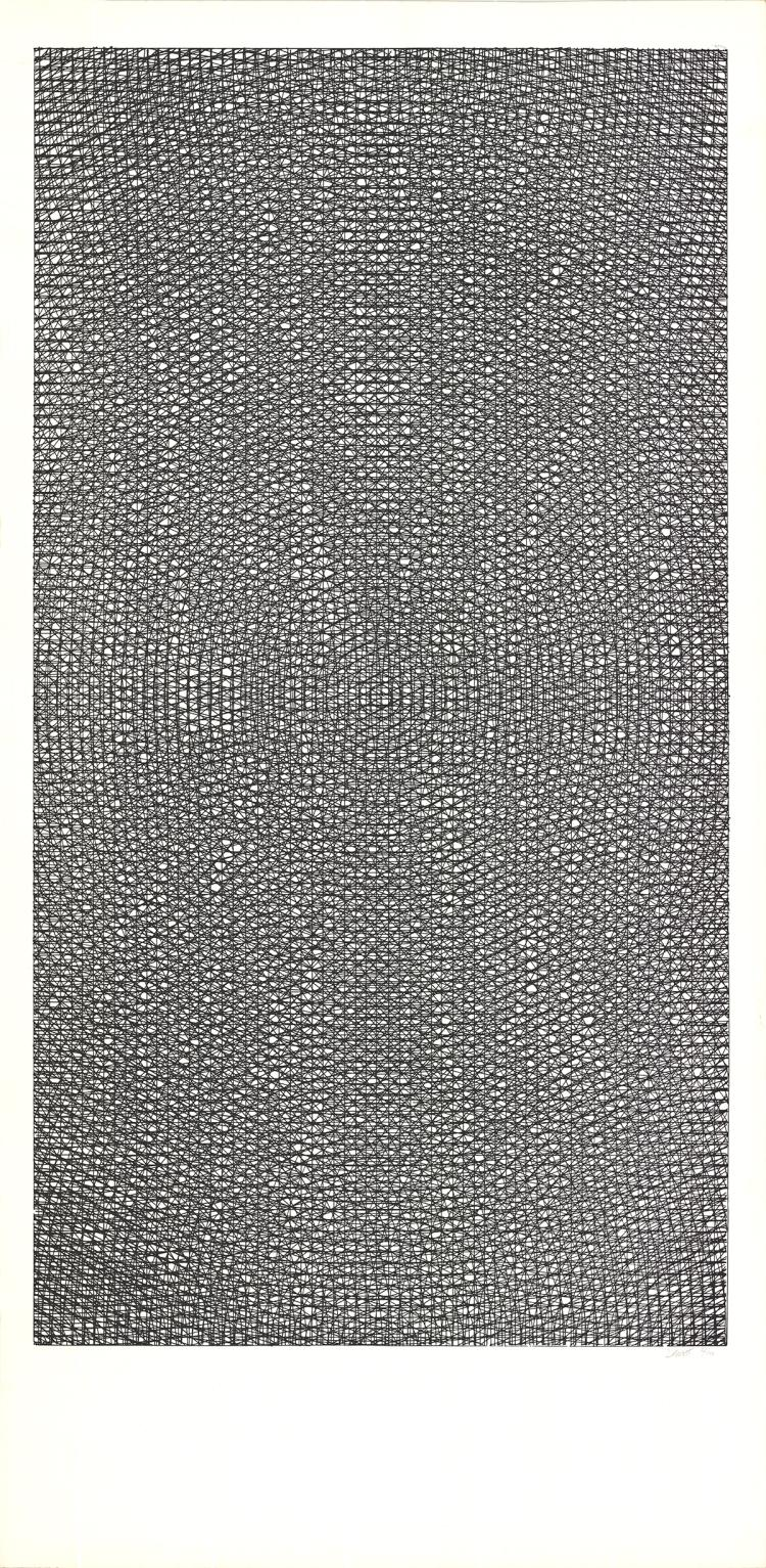 Sol Lewitt - Cross Hatches - 1970 - SIGNED