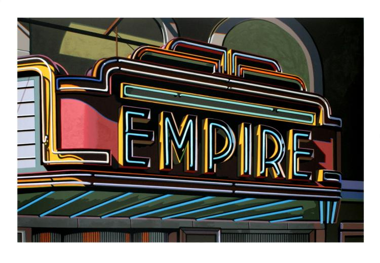 Robert Cottingham - Empire - 2008 - SIGNED