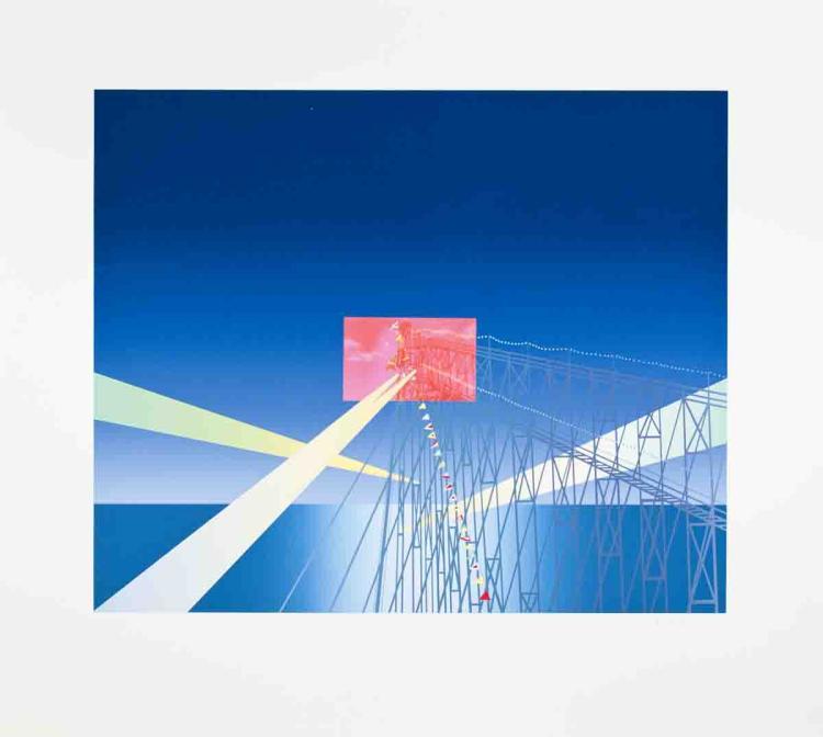 Jean-Michel Folon - I'm Writing From Coney Island - SIGNED