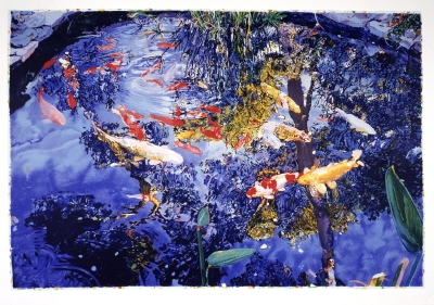 Joseph Raffael - Pond with goldfish - 2004 - SIGNED