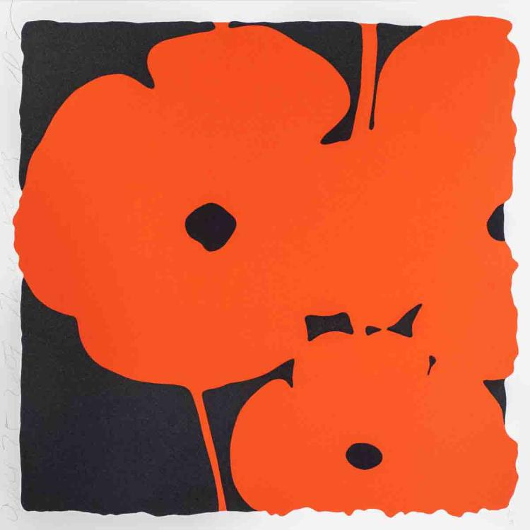 Donald Sultan - Red Poppies II - 2007 - SIGNED