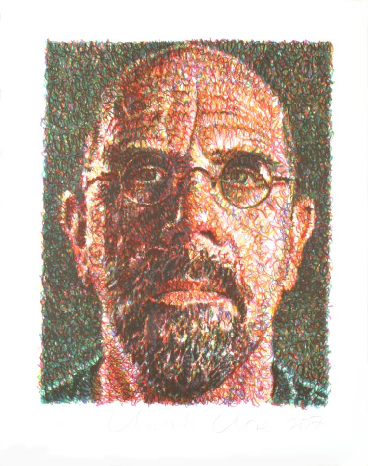 Chuck Close - Self Portrait - 2007 - SIGNED