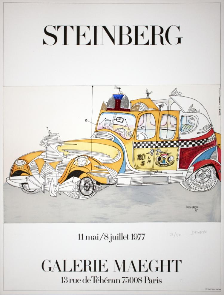 Saul Steinberg - Taxi - SIGNED