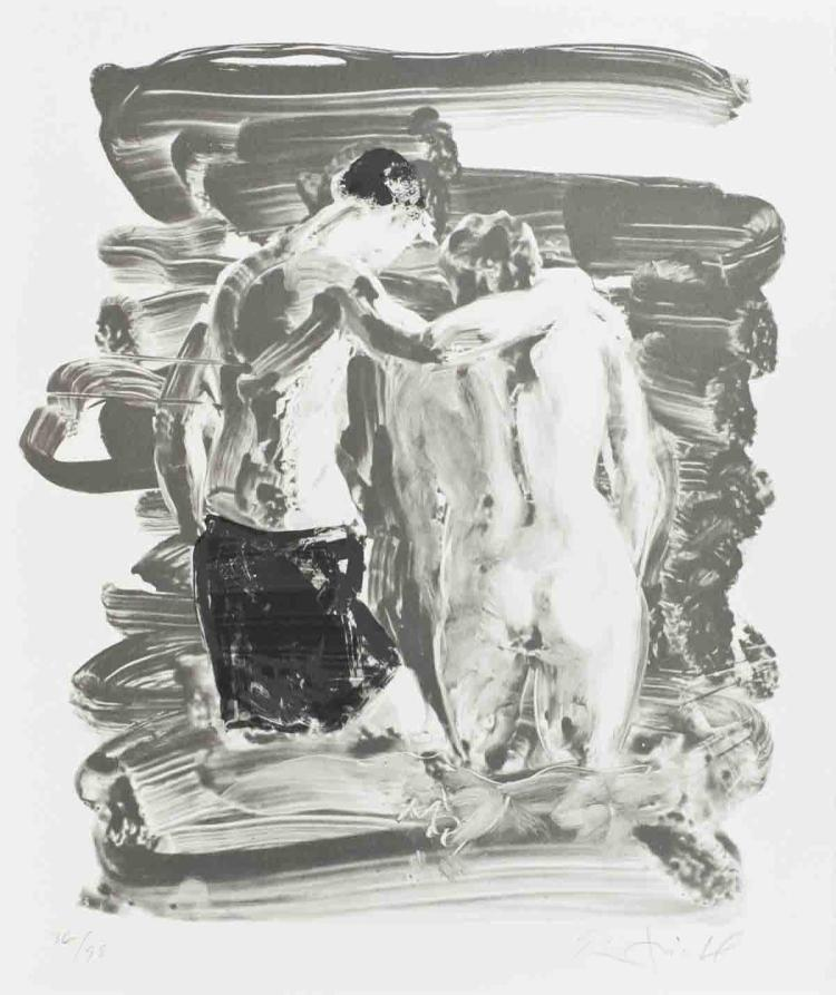 Eric Fischl - Two Bathers - 2009 - SIGNED