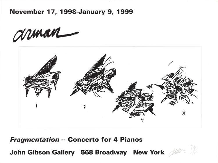 Pierre Fernandez Arman - Fragmentation - 1999 - SIGNED