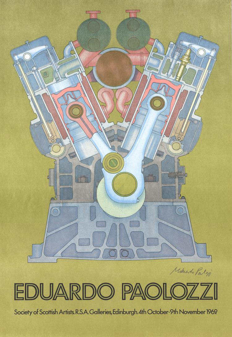 Eduardo Paolozzi - Society of Scottish Artists - 1969 - SIGNED