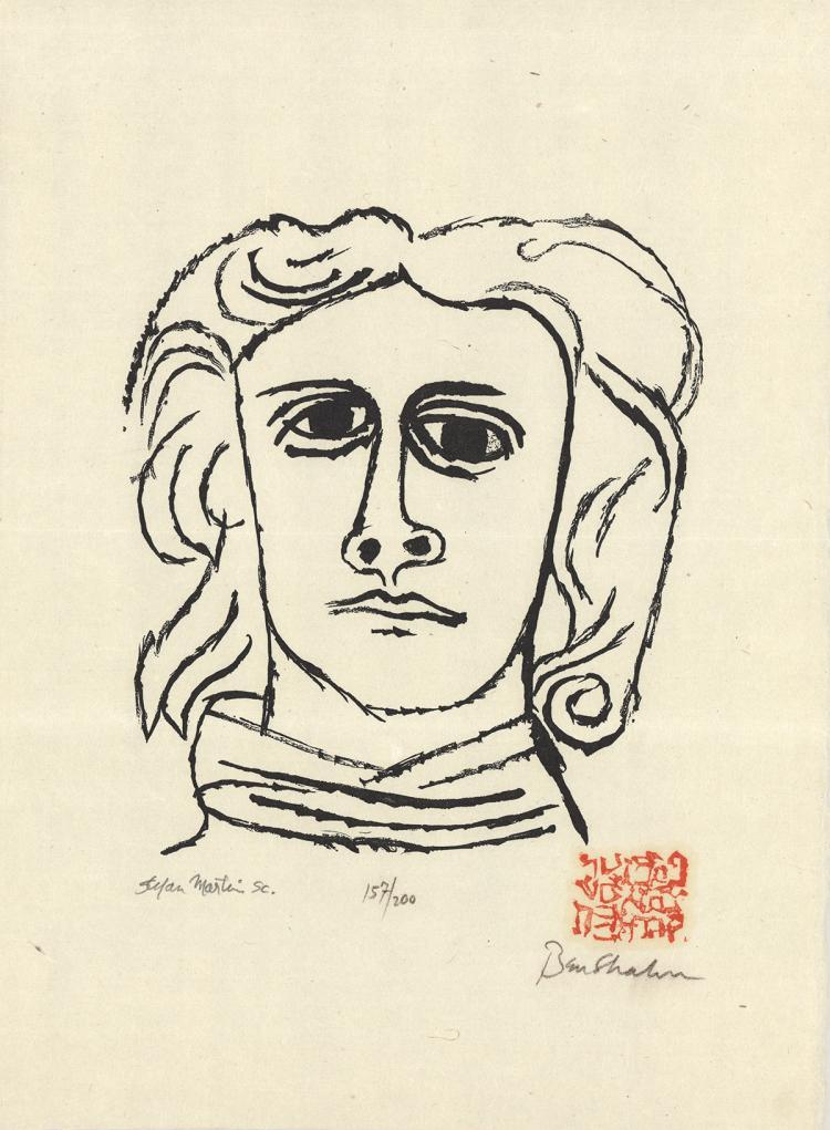 Ben Shahn - Untitled (Skowhegan) - 1965 - SIGNED