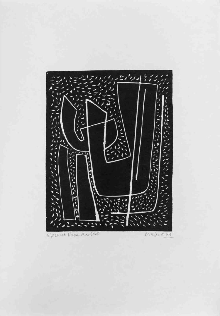 Alberto Magnelli - Untitled I (Fond Noir) - 1970 - SIGNED