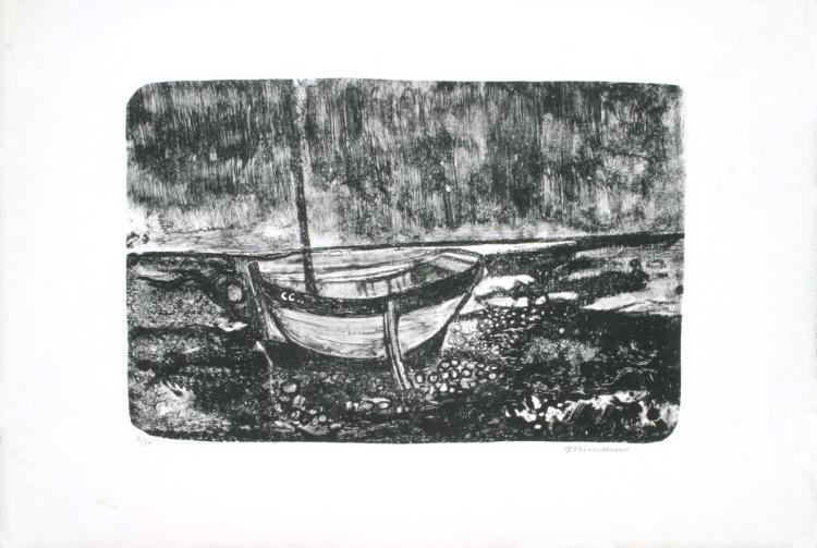 Andre Minaux - Boat Scene - SIGNED
