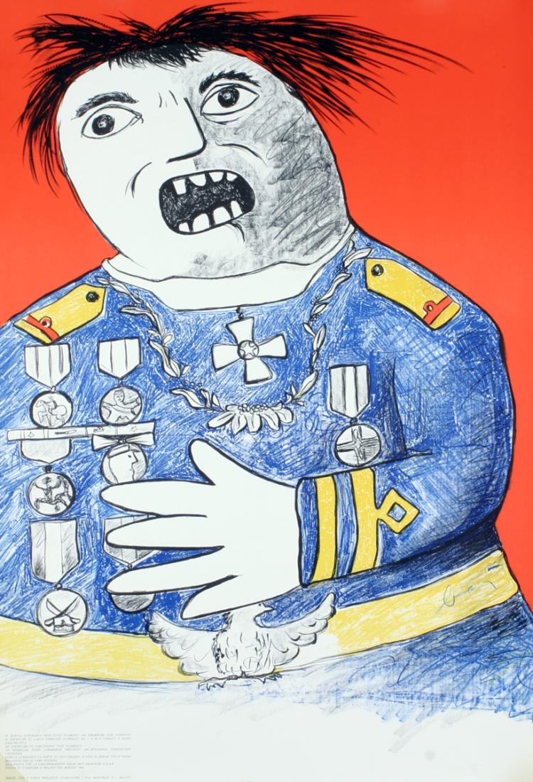 Enrico Baj - Homme de Guerre - SIGNED