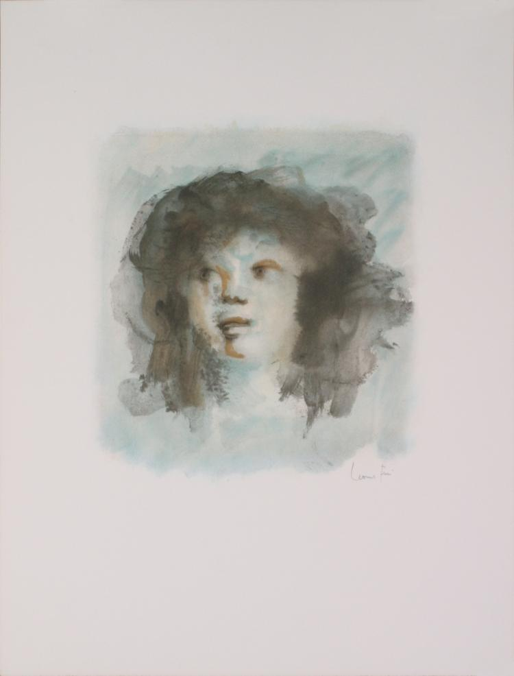 Leonor Fini - Blue Portrait (Visage Bleu) - 1974 - SIGNED