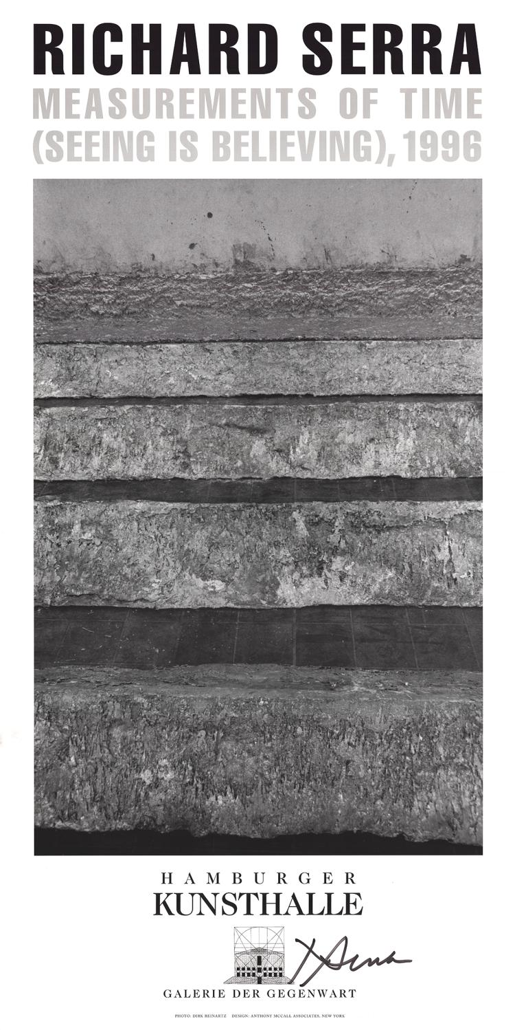 Richard Serra - Measurements of Time-Seeing is Believing - 1996 - SIGNED