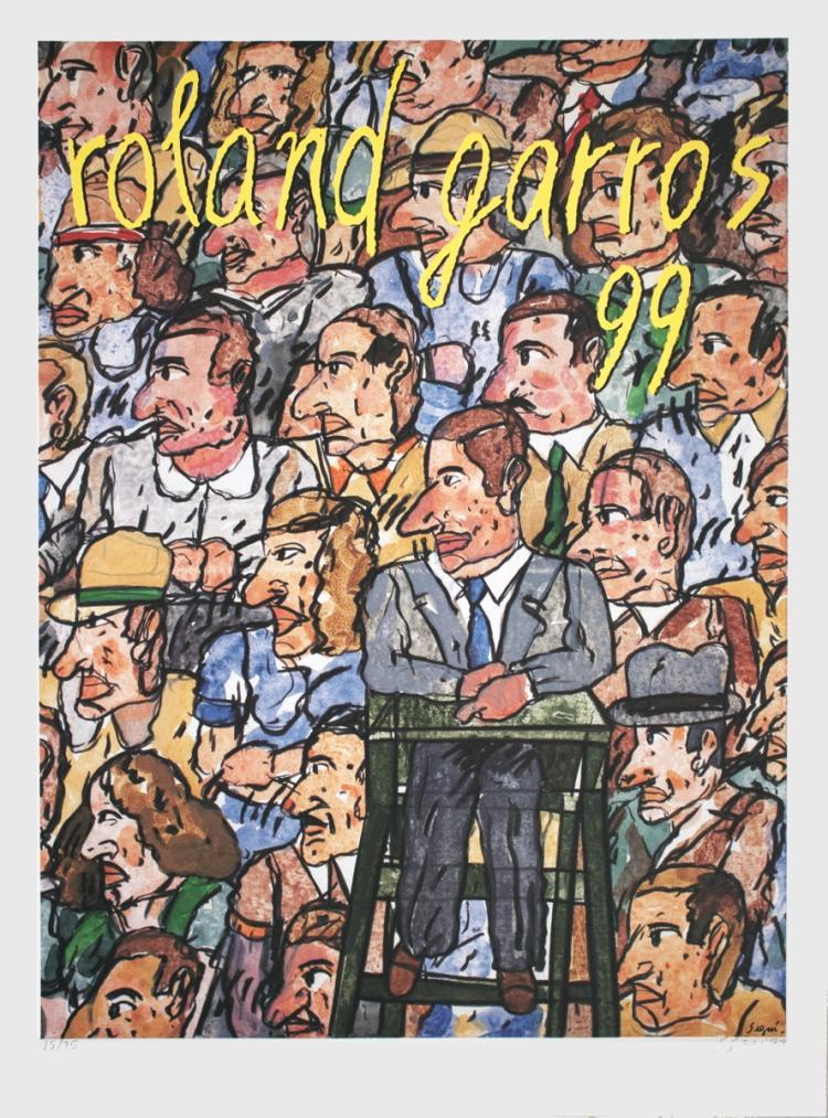 Antonio Segui - Roland Garros - 1999 - SIGNED