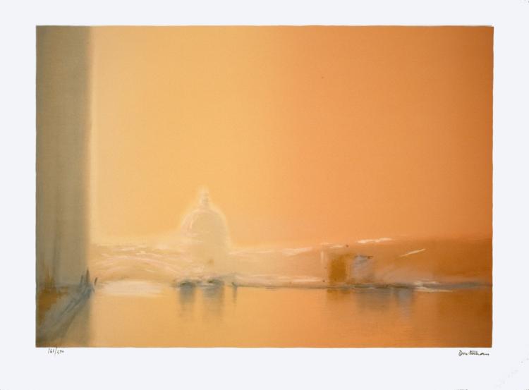 Pierre Doutreleau - Venise Fond Orange - 1975 - SIGNED