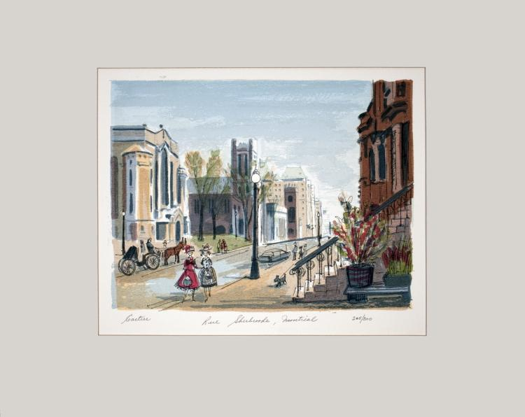 Roger Cartier - Rue Sherbrooke, Montreal - SIGNED