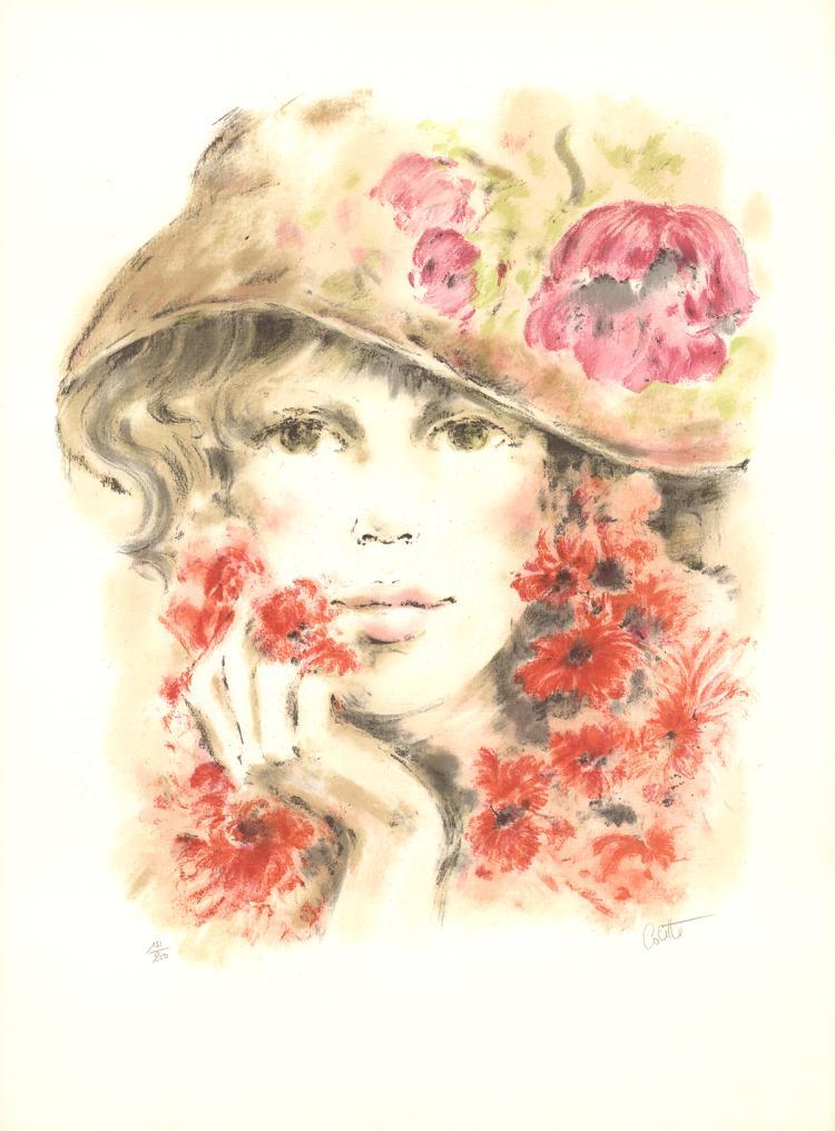 Colette Darfeuil - Colette avec Chapeau - SIGNED