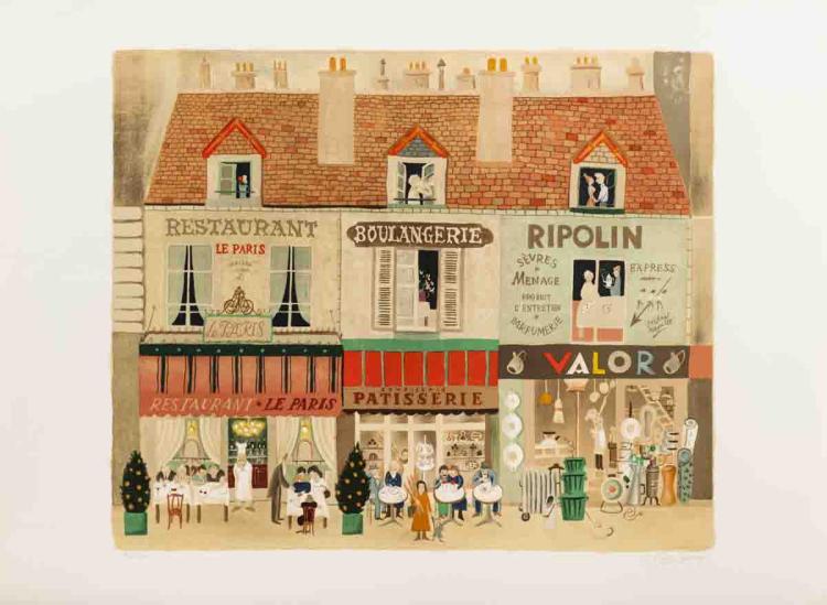 Michel Delcroix - Parisian Market - SIGNED