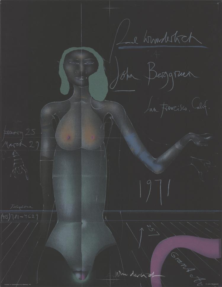 Paul Wunderlich - John Berggruen Gallery - 1971 - SIGNED