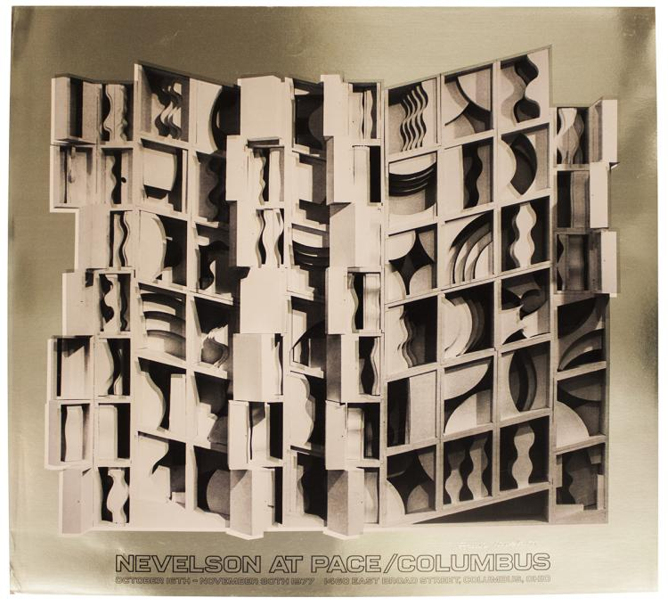 Louise Nevelson - At Pace Columbus (Gold) - 1977 - SIGNED