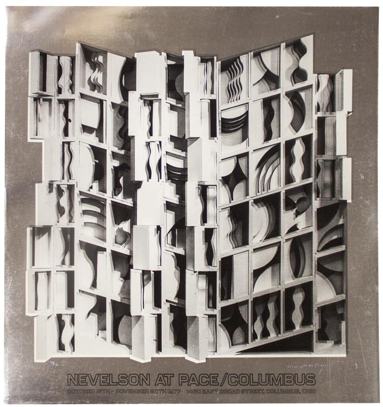 Louise Nevelson - At Pace Columbus (Silver) - 1977 - SIGNED