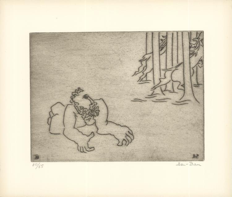 Ben-Zion - Enkidu Feels Dejected (XII) - 1966 - SIGNED