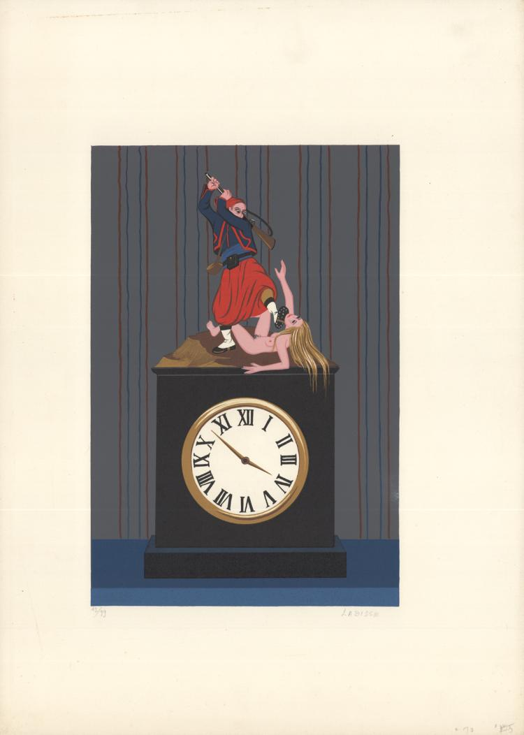 Felix Labisse - L'Horloge (The Clock) - SIGNED