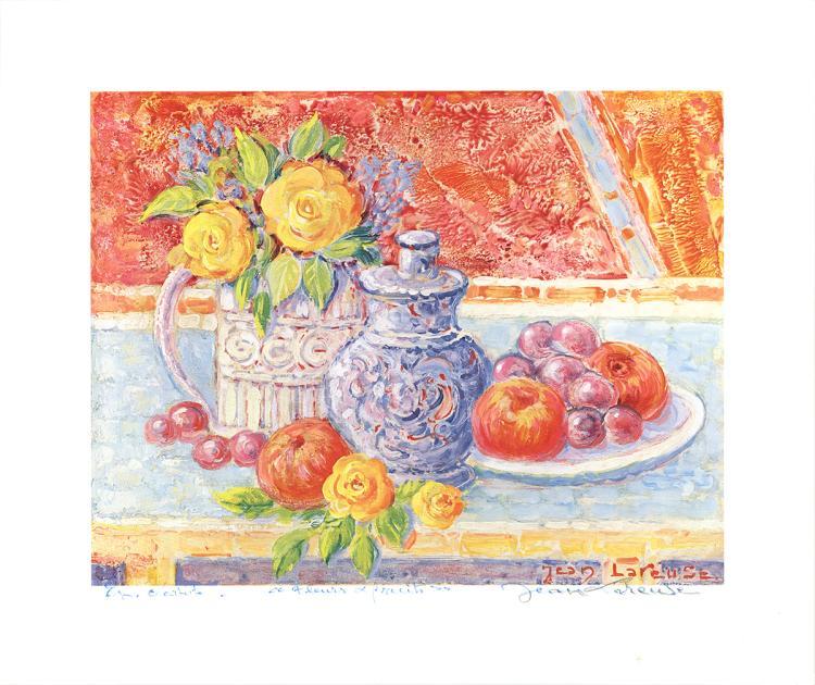 Jean Lareuse - Fleurs et Fruits - SIGNED