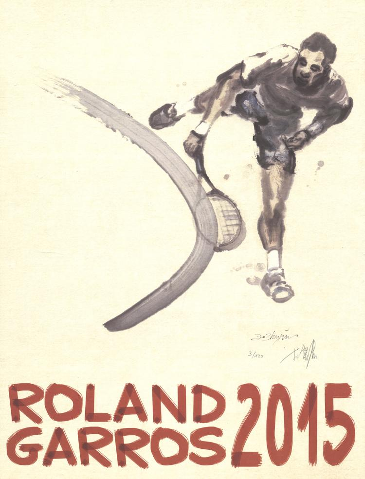 Zhenjun Du - Roland Garros - 2015 - SIGNED
