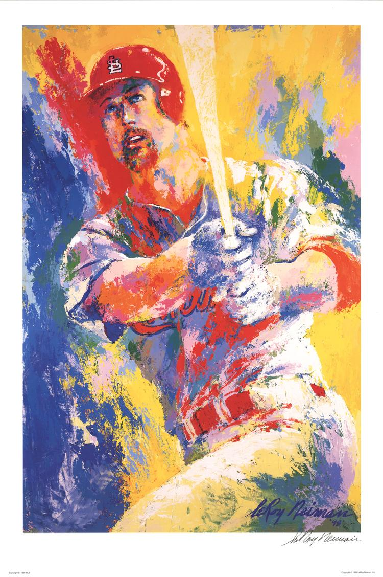 Leroy Neiman - Mark McGwire - 1999 - SIGNED