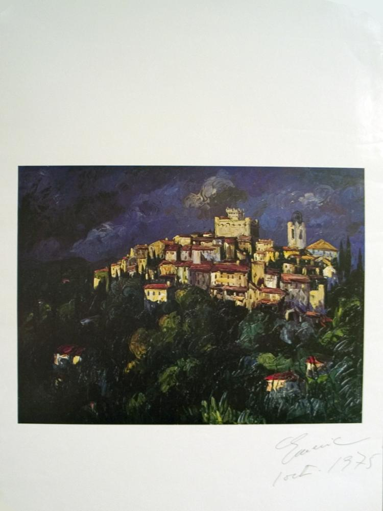 Town on Hill - SIGNED