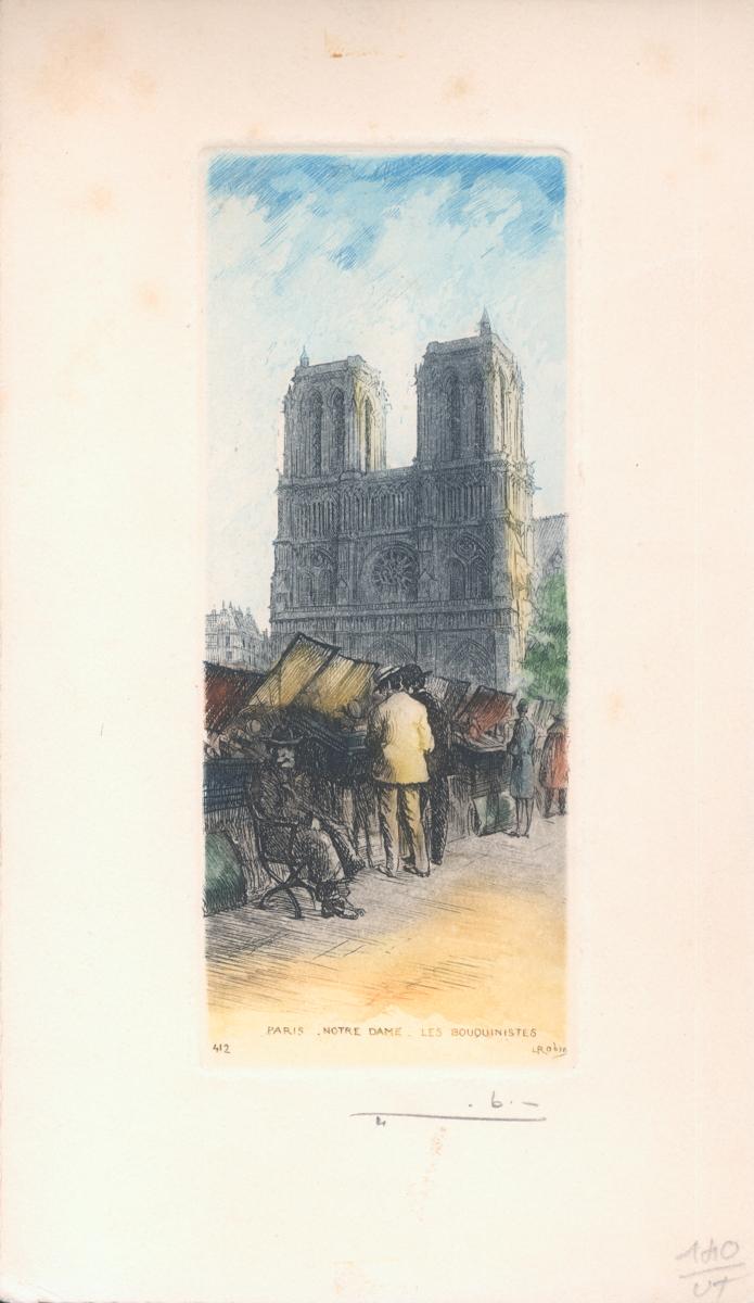 Leopold Robin - Notre Dame Paris - 1945 - SIGNED