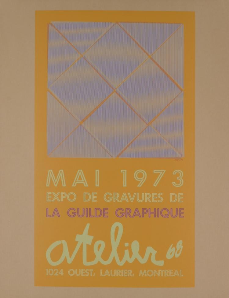 LaCroix - Expo de Gravures de la Guilde Graphique - 1973 - SIGNED